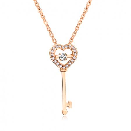 【预售】心动之钥-18k金钻石吊坠