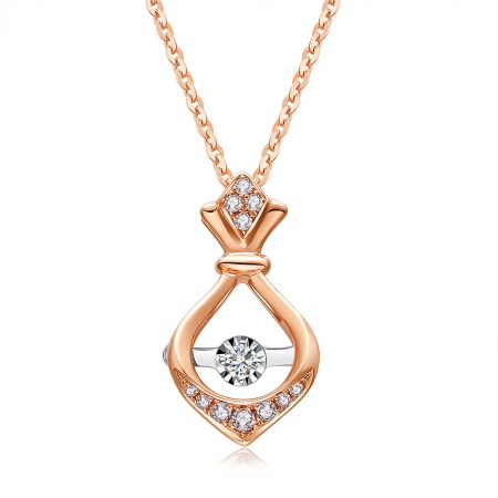 【预售】爱情物语-18k金钻石吊坠
